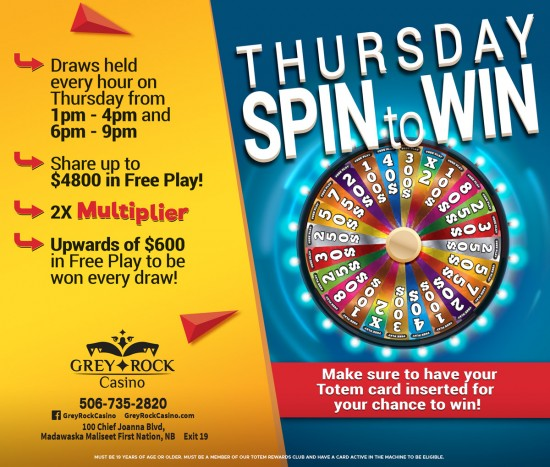 Thursday Spin to Win!