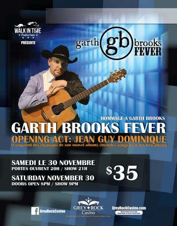 Garth Brooks FEVER (Tribute to Garth Brooks) with Opening Act Jean Guy Dominique