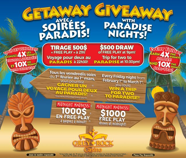 Getaway Giveaway with Paradise Nights!